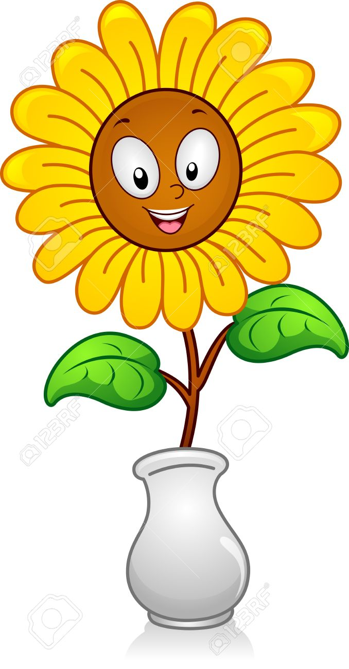 678x1300 Cartoon Flowers In A Vase Clip Art Cliparts