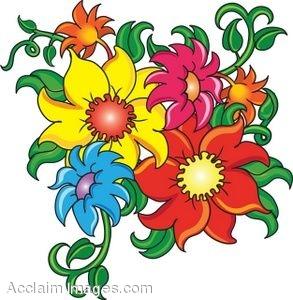 293x300 Clip Art Of Cartoon Flowers
