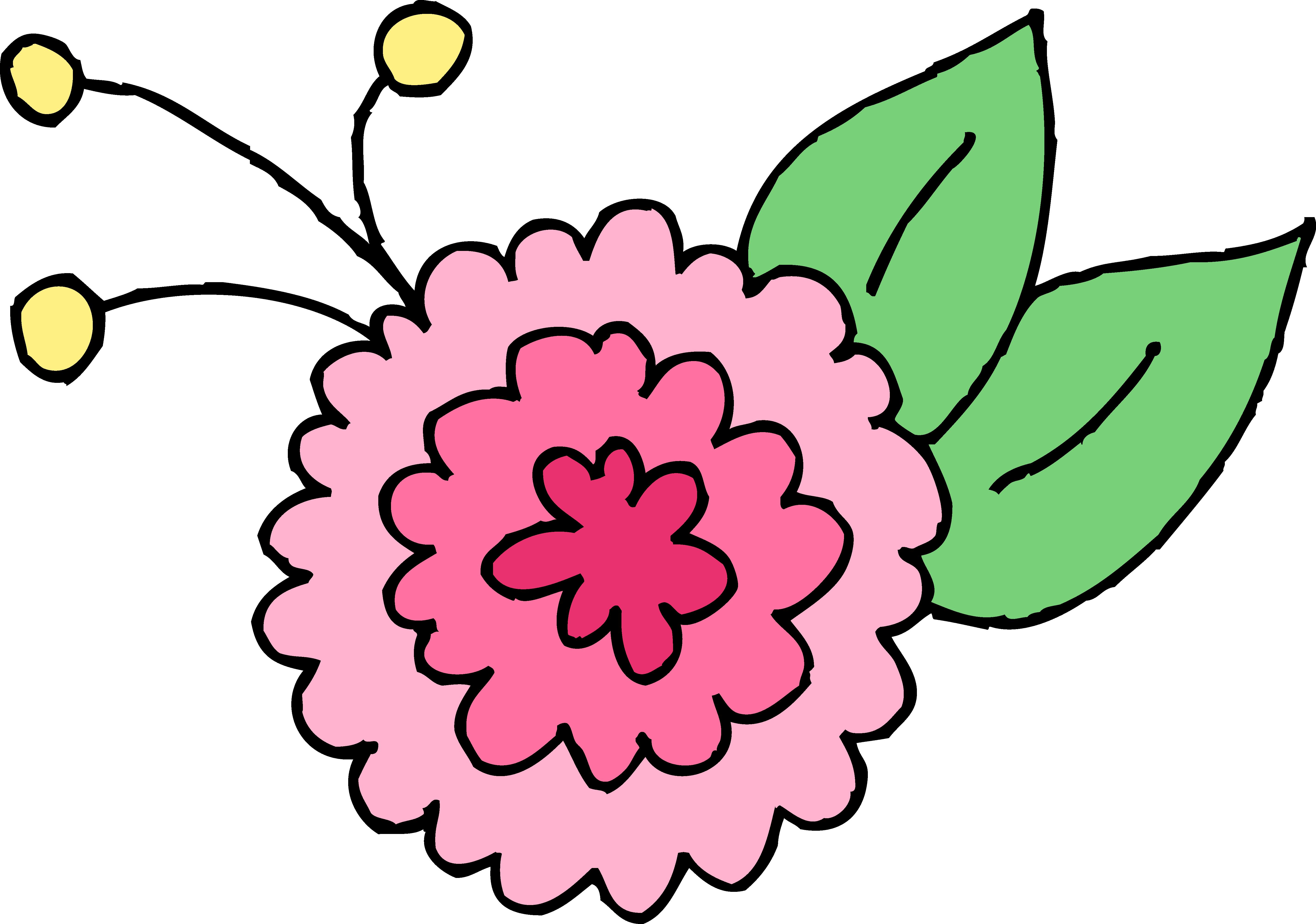 Flower cartoon images clipart free download best flower cartoon 5688x3992 cute pink chrysanthemum flower mightylinksfo