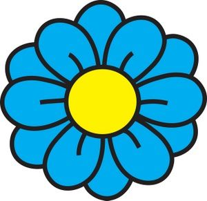 300x291 Flower Clipart Image clip art illustration of a blue flower with
