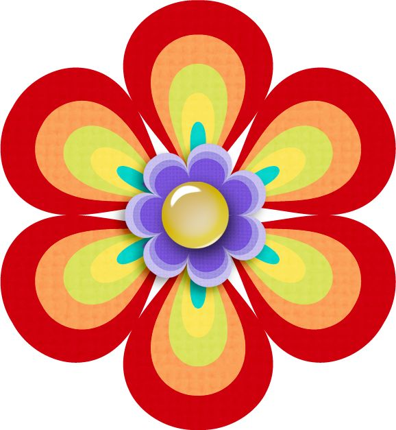 578x627 Flower clipart scrapbook