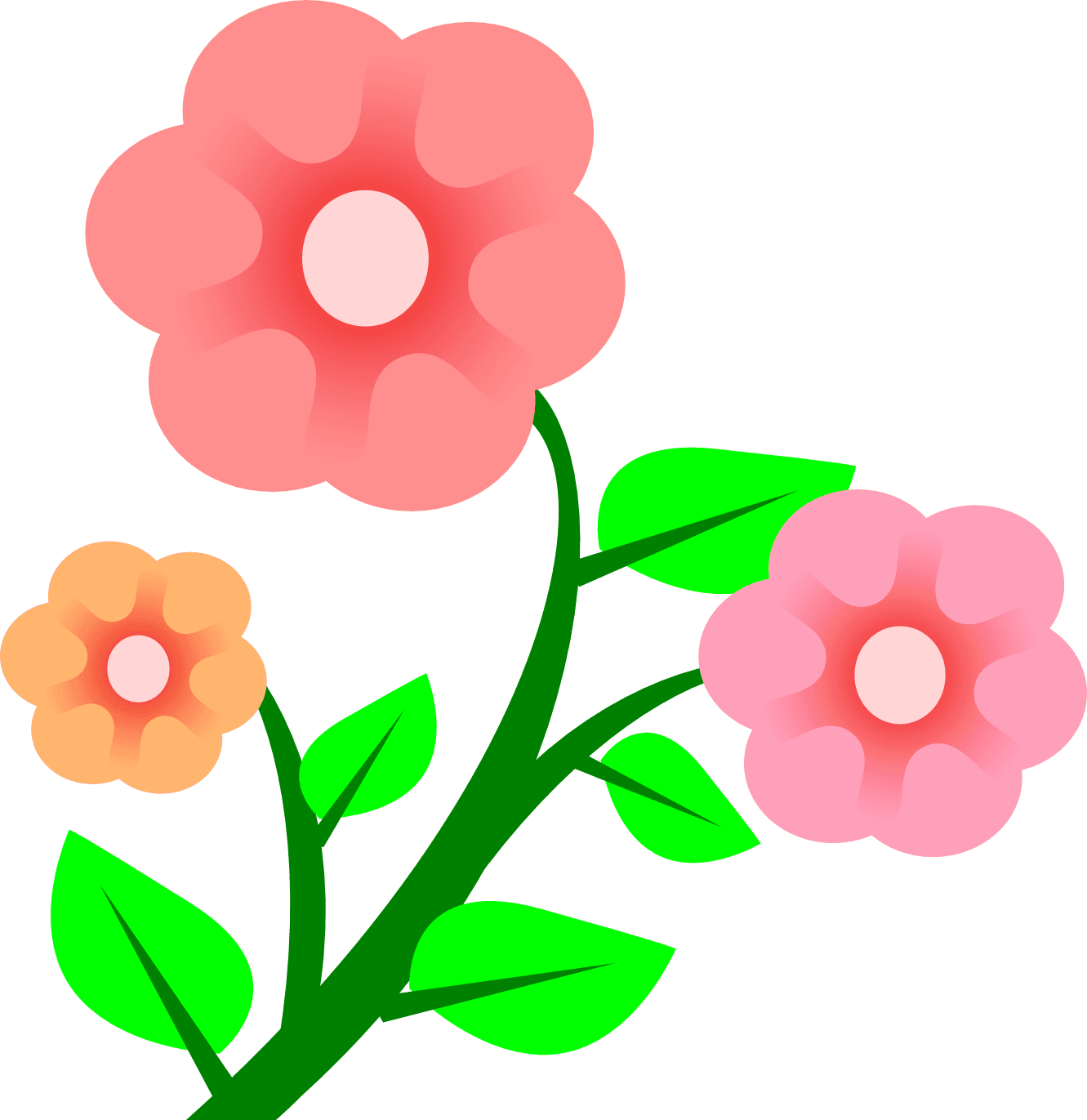 1331x1371 Groovy Flower Clipart