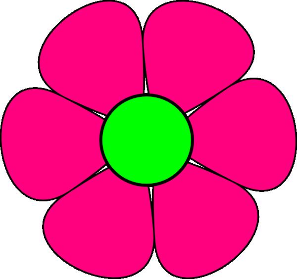 600x564 Pink Flower Clip Art