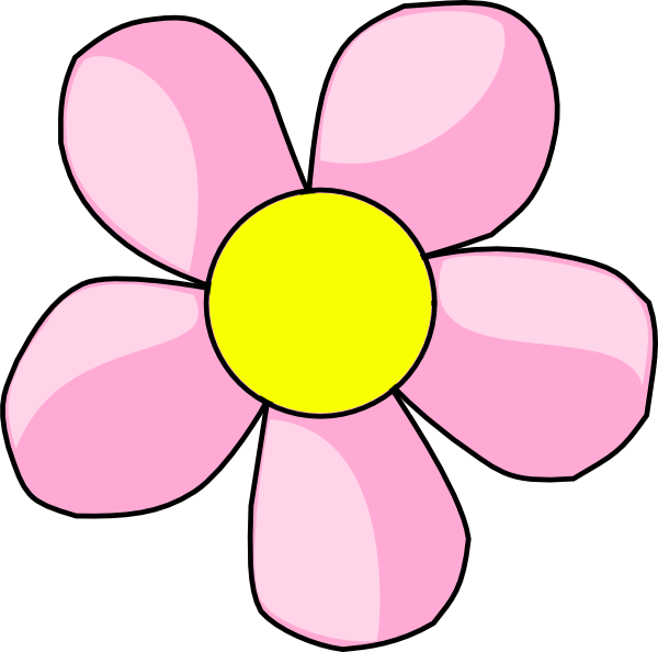 600x594 Pink Flowers Clipart