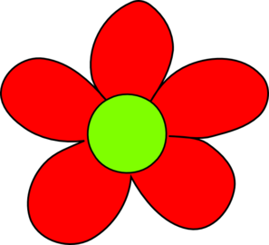 297x270 Red Flower Clip Art