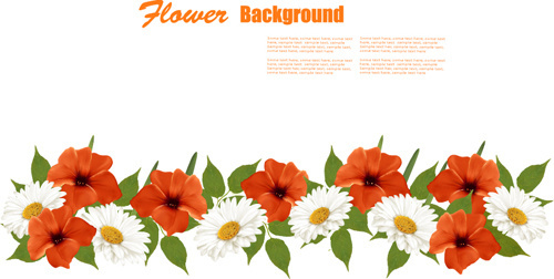 500x252 Orange Flower Clipart Summer Flower