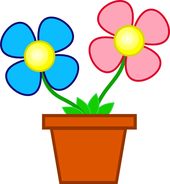 552x595 Flowers In A Vase Clip Art