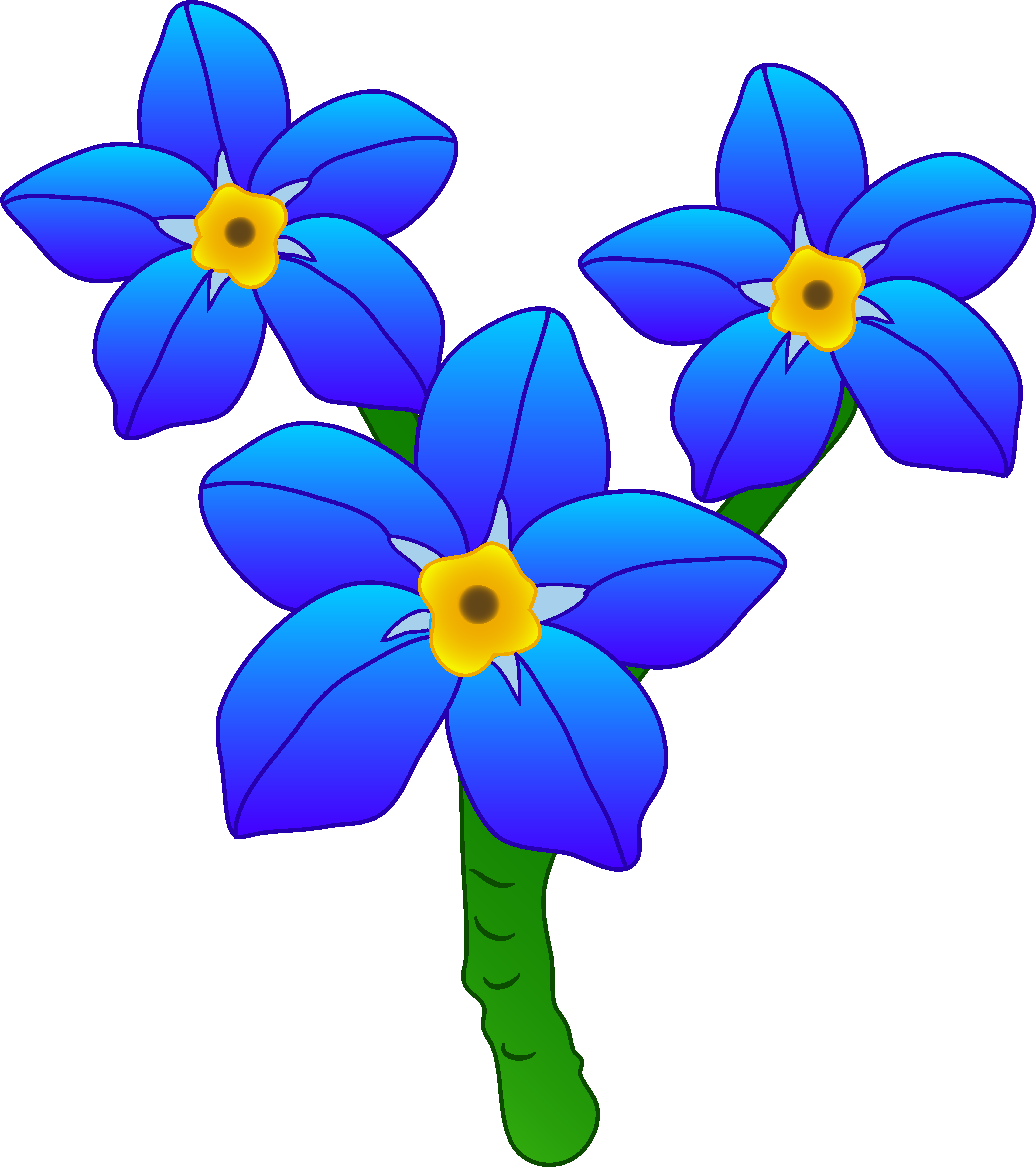 5913x6662 Free Forget Me Not Flower Clipart