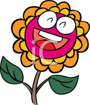 299x350 Smiling Cartoon Flower
