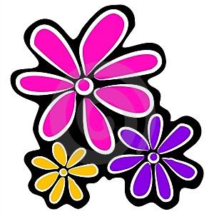 300x300 Abstract Clipart Cartoon Flower