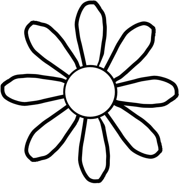 582x599 White Flower Clip Art