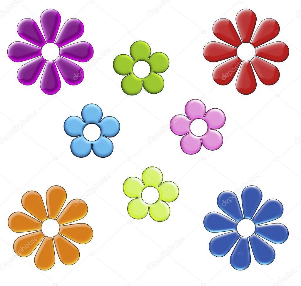 1024x974 Rainbow Cartoon Flower Clip Art On White Stock Photo Sorsillo