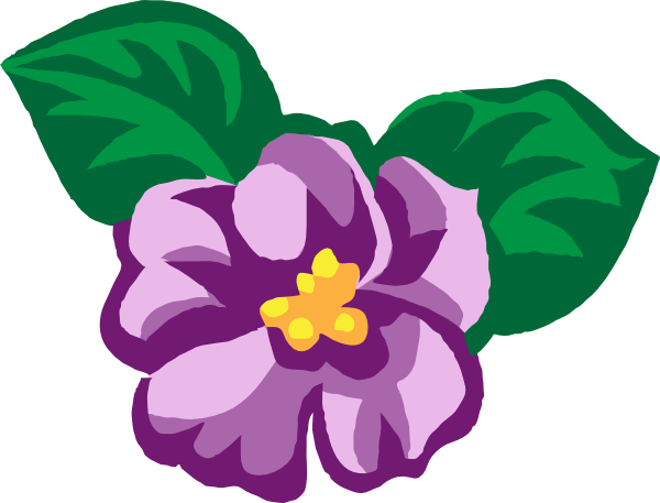 600x457 Violet Flower Clip Art