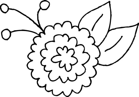 Flower Clipart Coloring Free