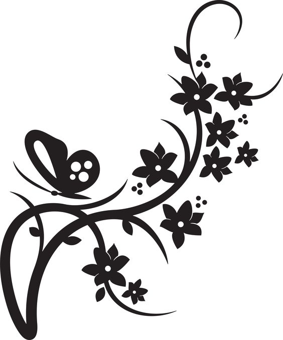 Digital Download Flower Clipart 564x678 Purple Elegant Borders