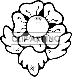 Flower Clipart Images Black And White