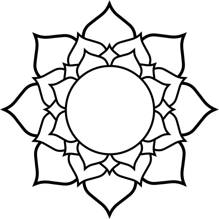 736x736 Lotus Flower Clipart Black And White