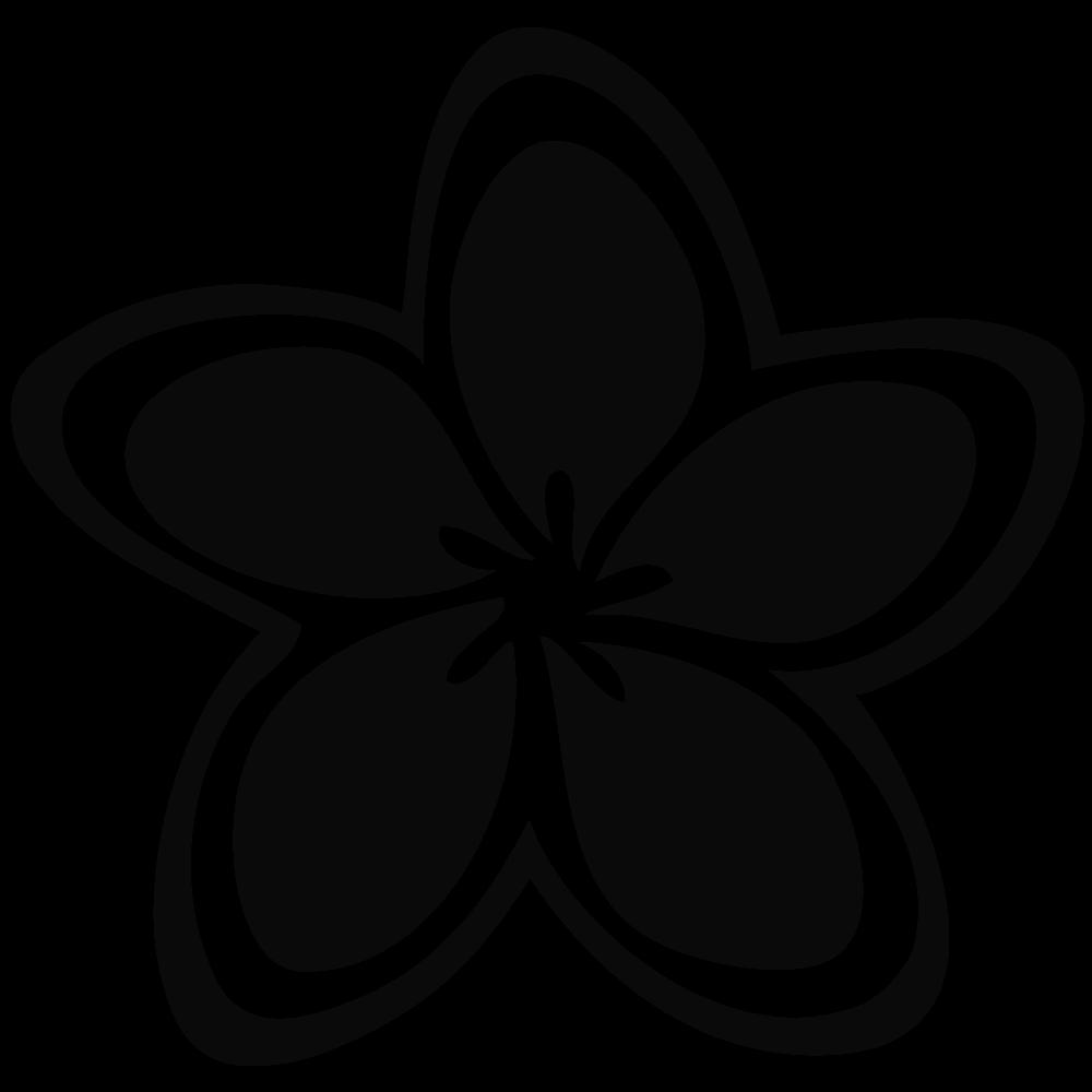 1000x1000 White Flower Clipart Plumeria