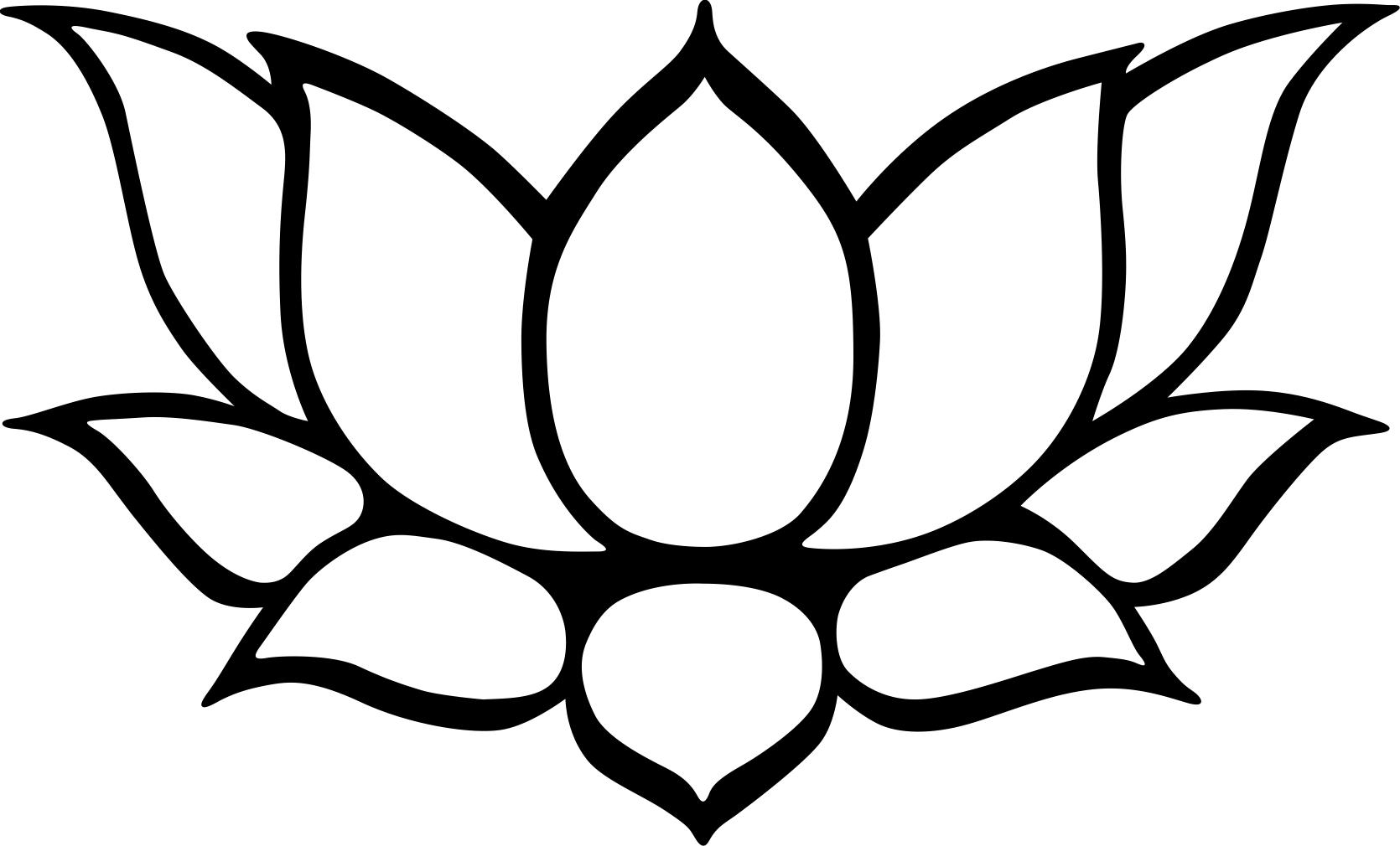 1670x1010 Clip Art Black And White Lotus Flower Clipart