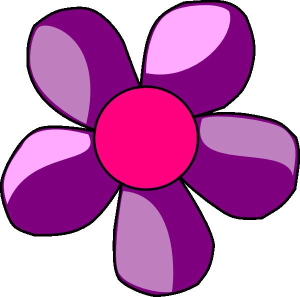 600x594 Clipart Flower Purple