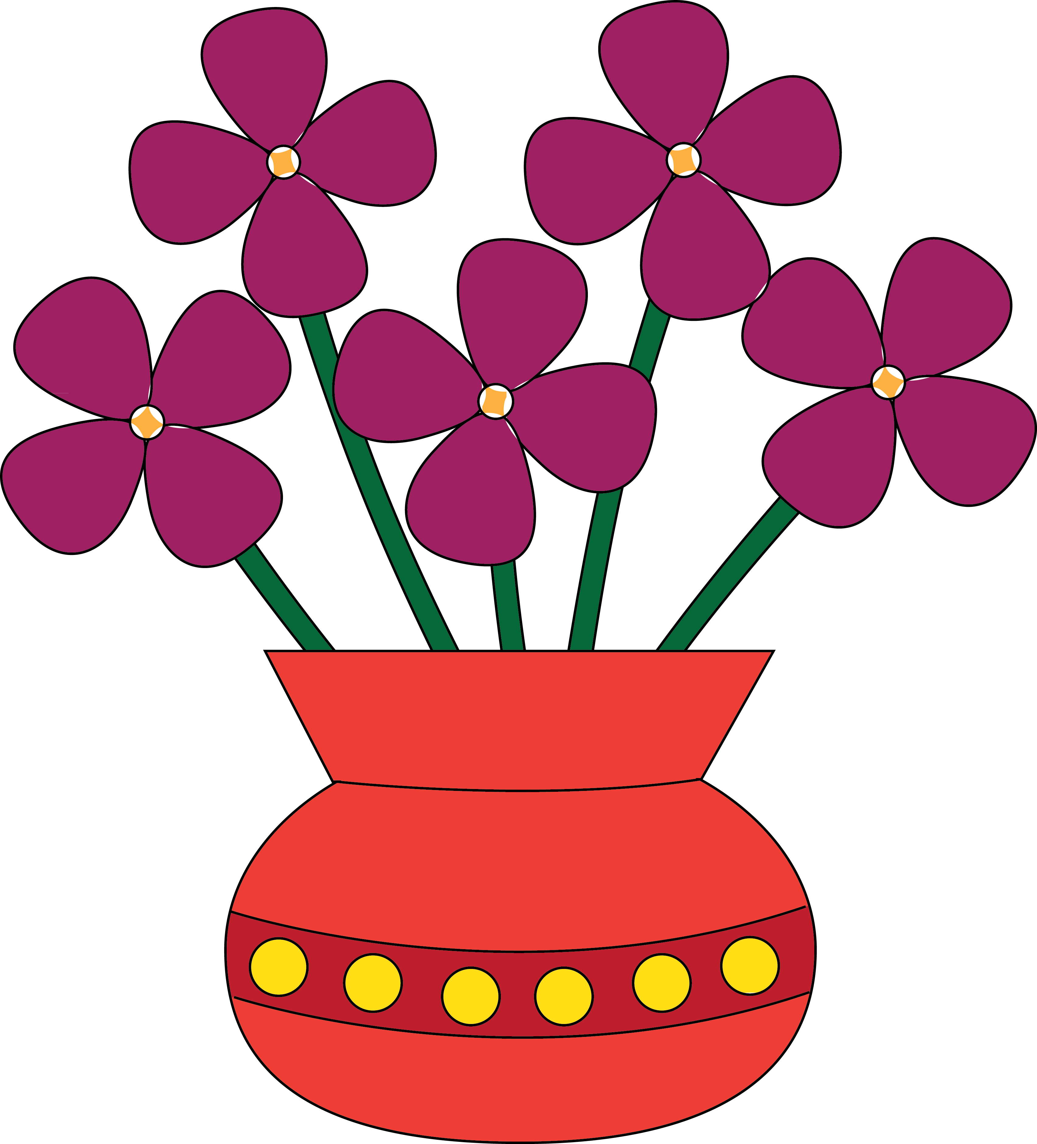 3408x3758 Colored Flower Vase Clip Art Clipart Panda