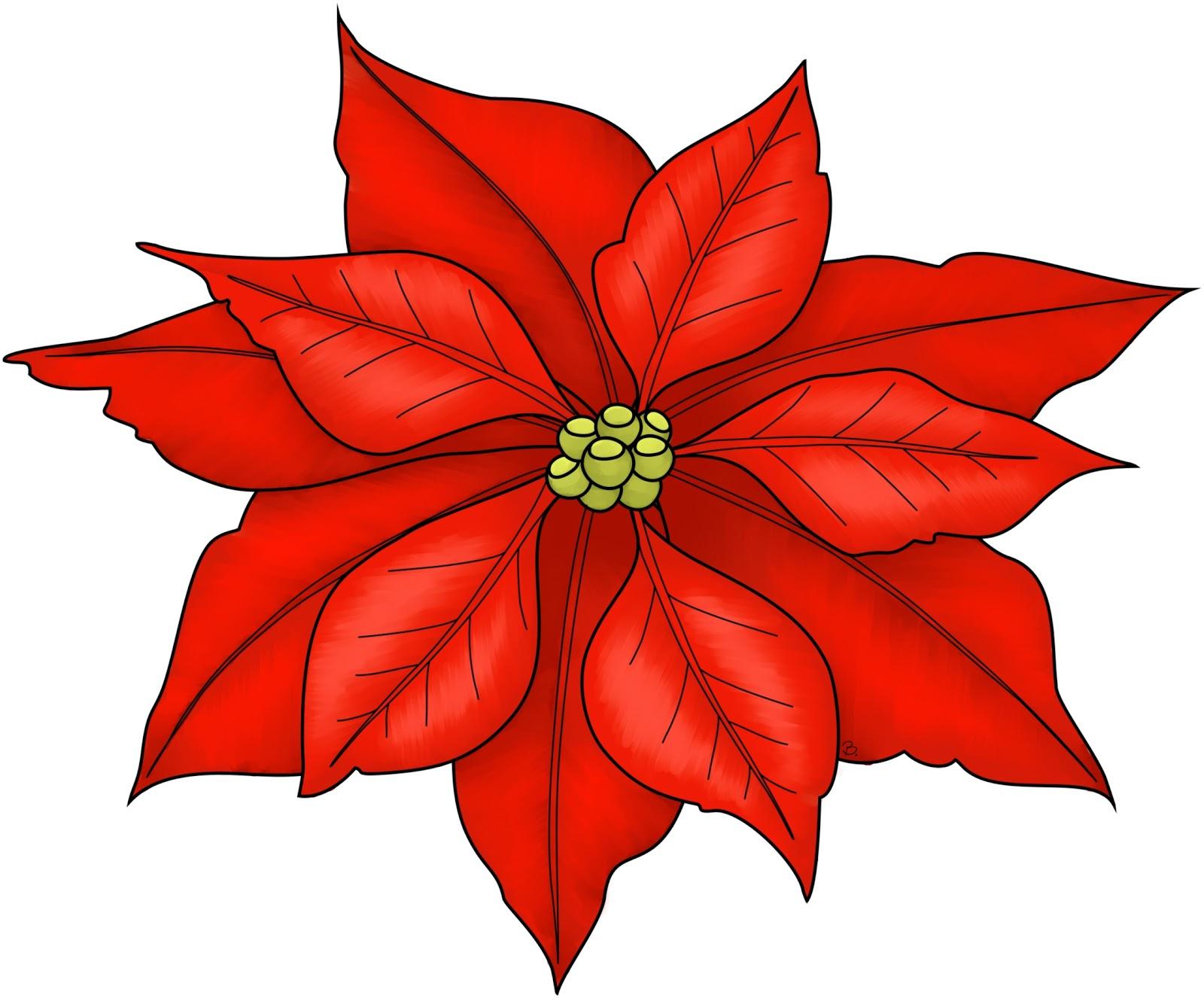 1600x1326 Cute Flower Christmas Flower Clip Art Merry Christmas Amp Happy