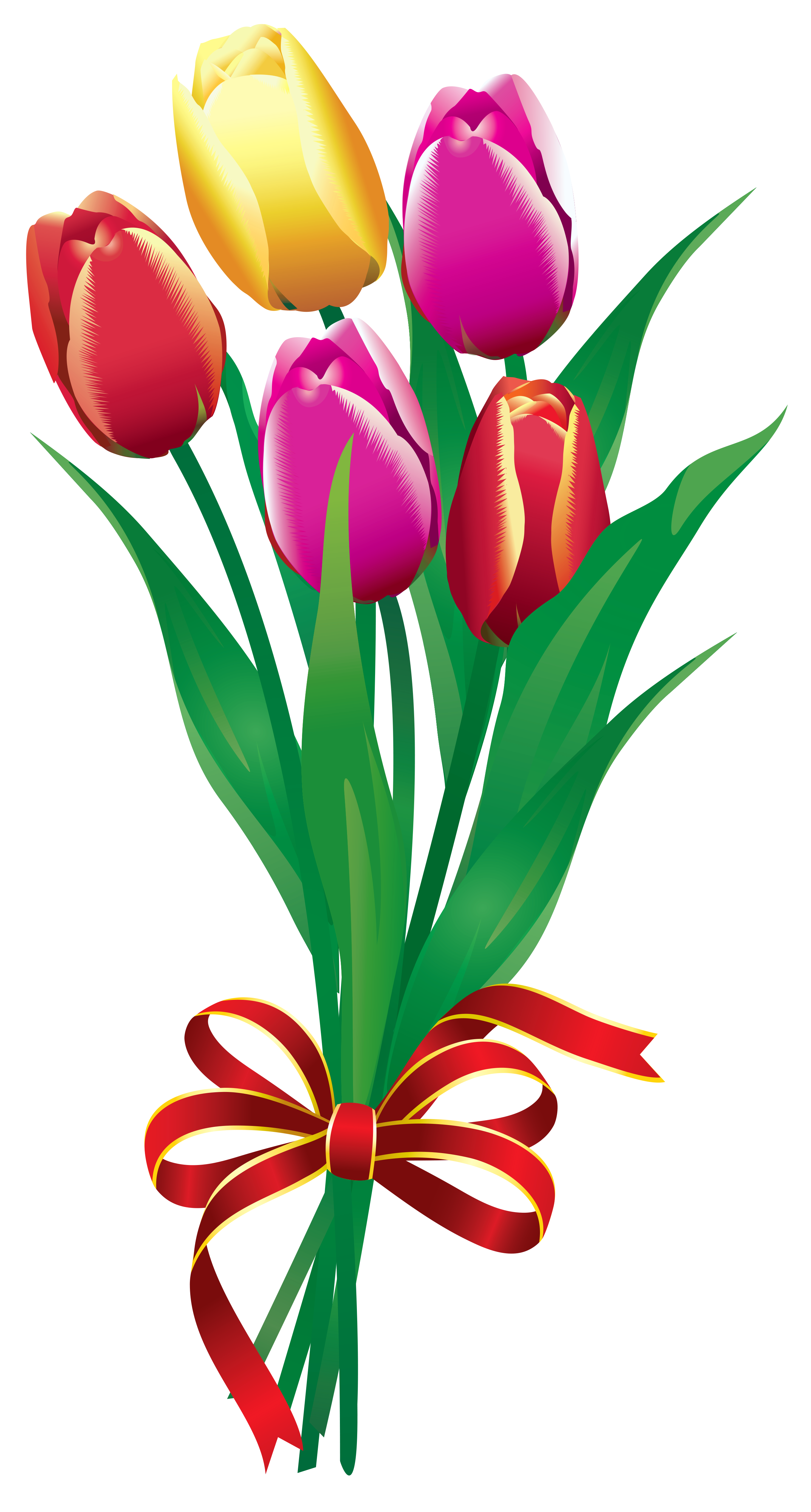 2720x5072 Flower Bouquet Clipart No Background