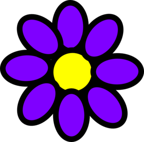 298x294 Purple Flower Clipart No Background