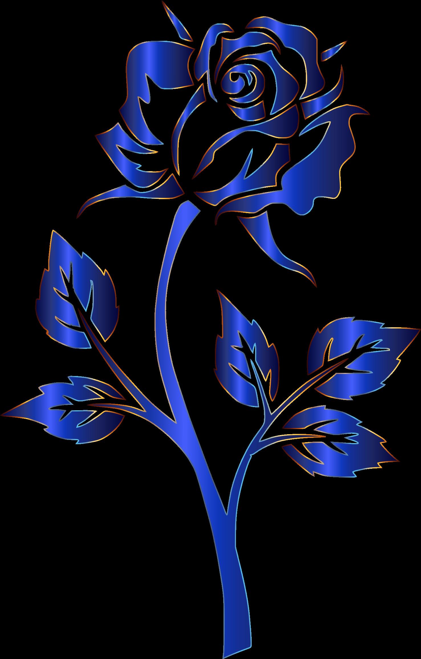 1477x2310 Blue Rose Clipart Transparent