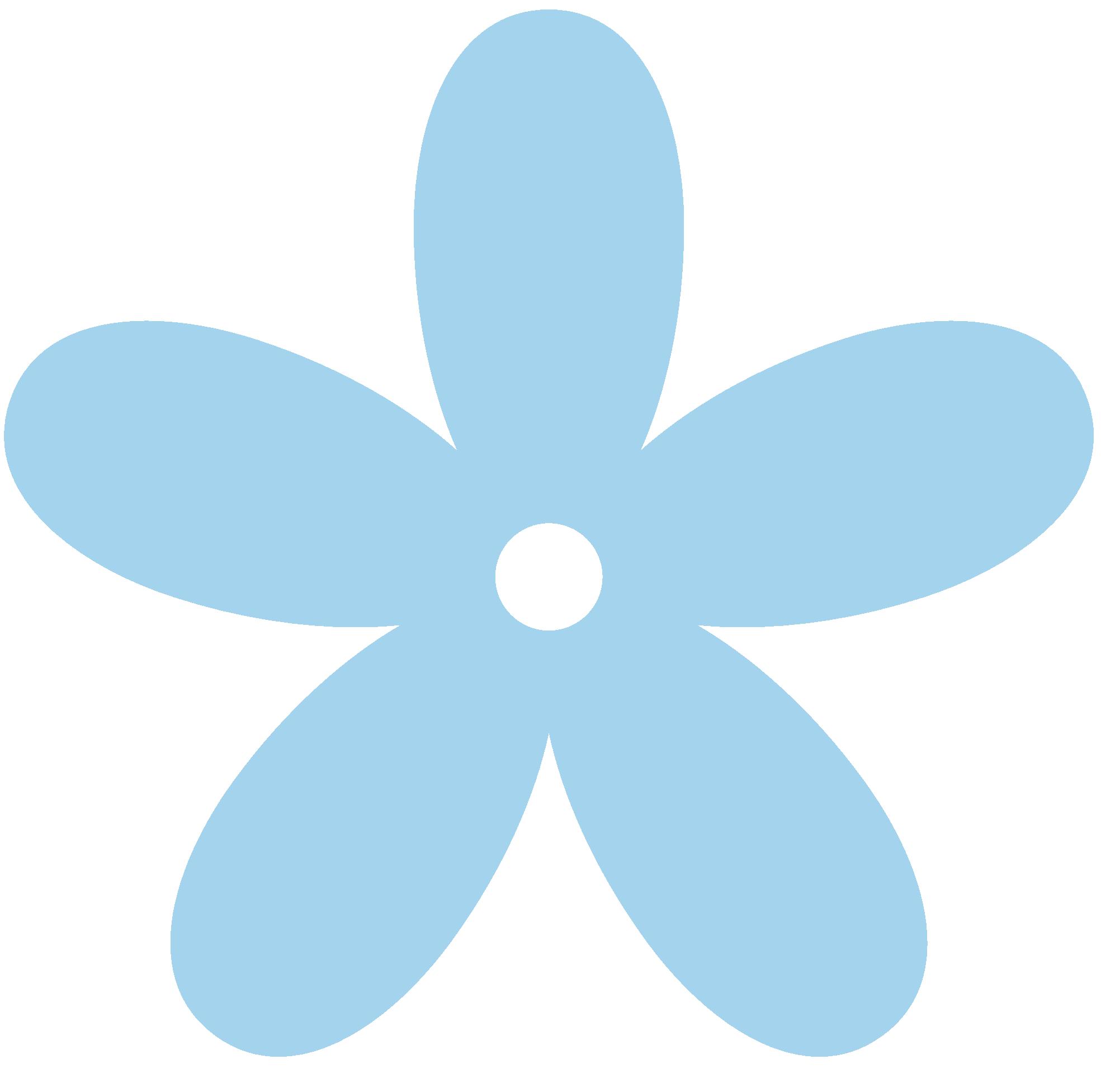 1969x1952 White Blue Flowers Clipart