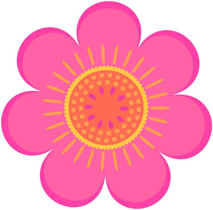 736x726 Pink Flower Clipart Orange Flower