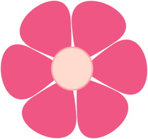 300x282 Pink Flower Clipart Color Pink