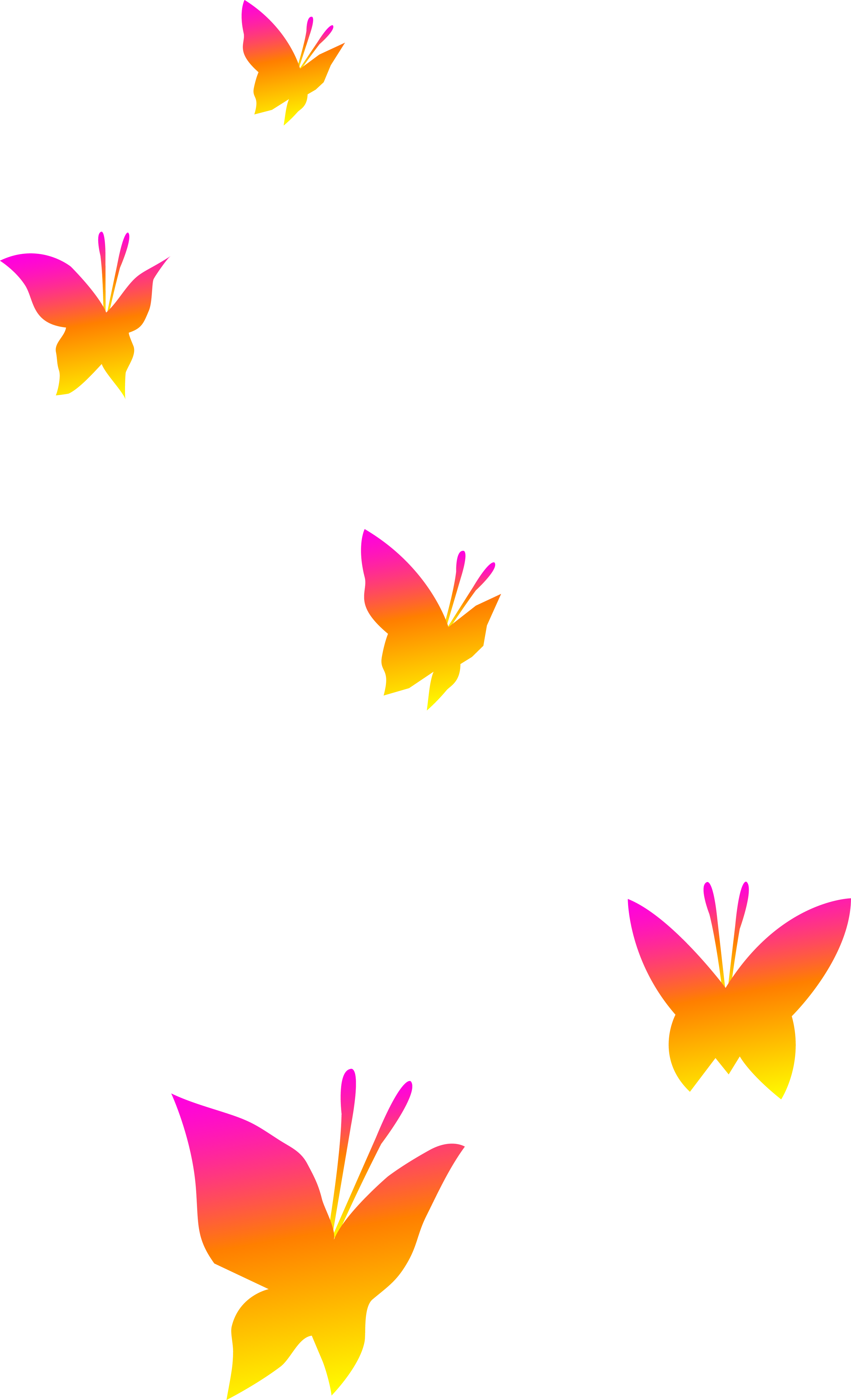 2736x4500 Pink Orange And Yellow Butterflies