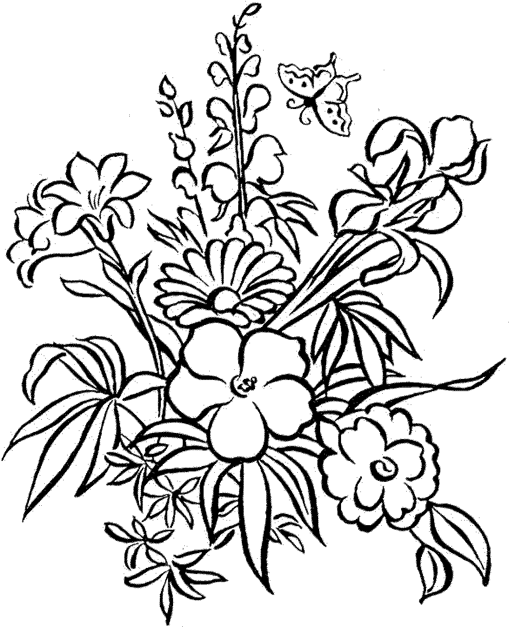 1000x1231 Download Coloring Pages. Flowers Coloring Pages Flowers Coloring