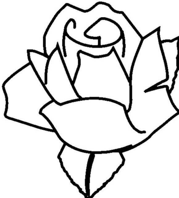 580x643 Adorable Rose Coloring Pages For Kids Flower Coloring Pages