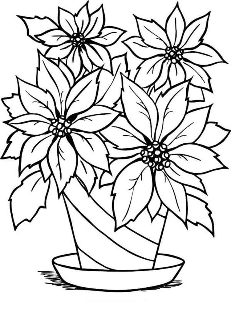 pics of coloring pages flowers - photo#41