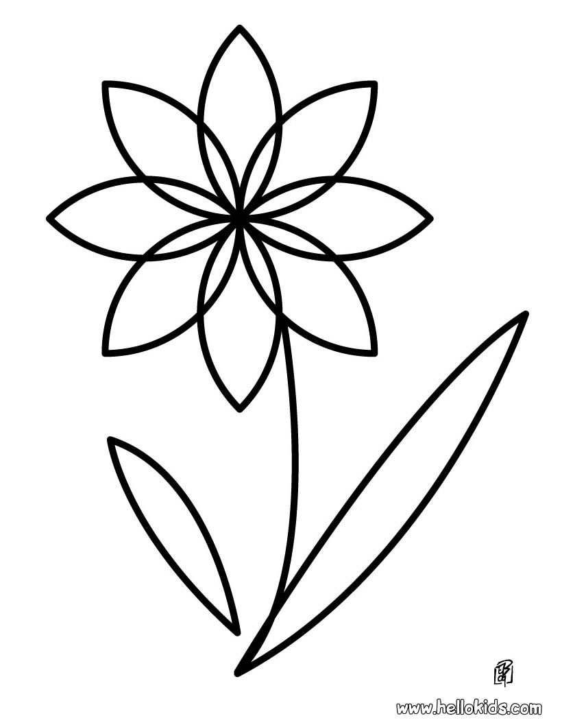 820x1060 Flower coloring pages