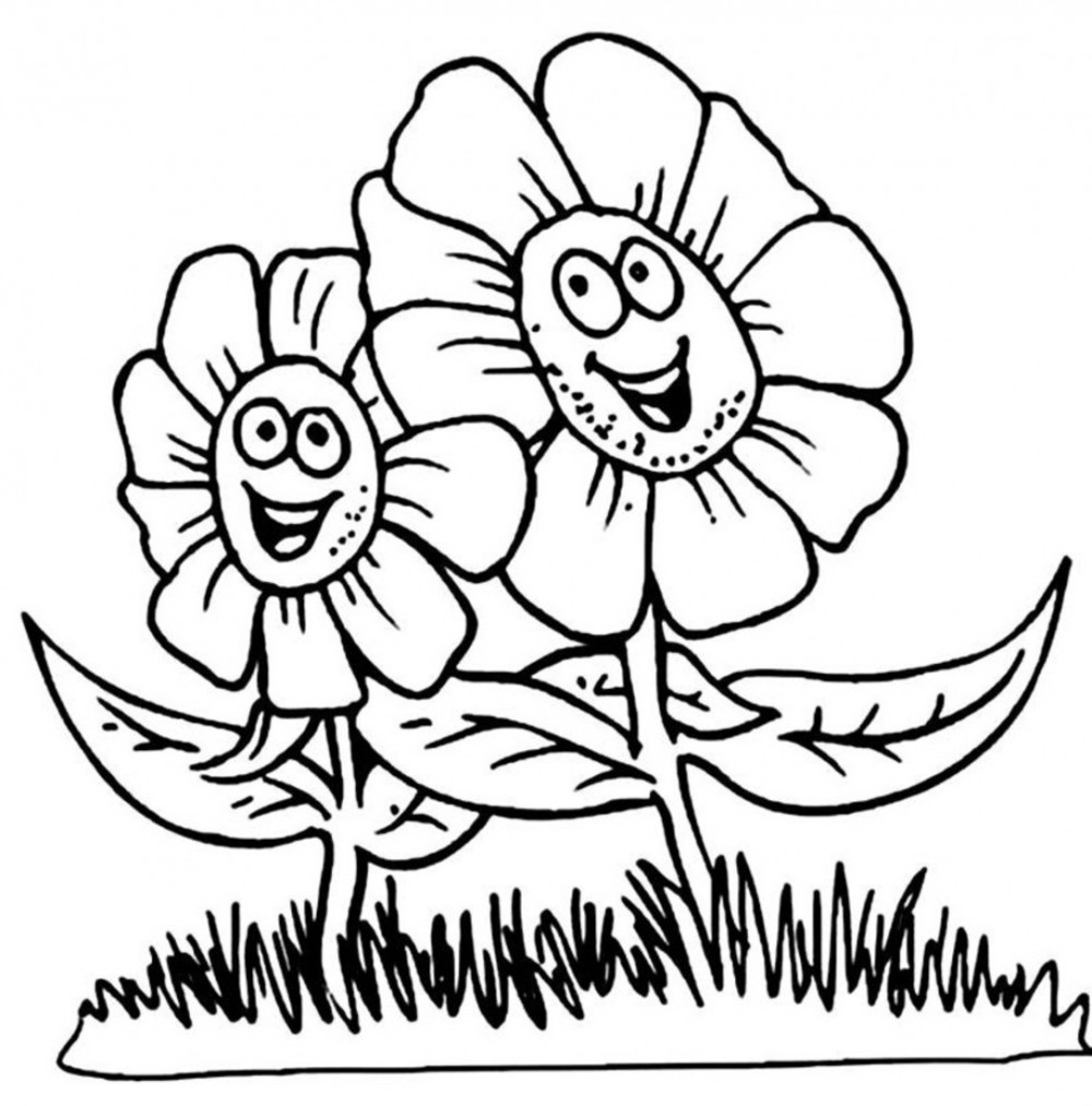 1000x1013 Online Flower Coloring Pages For Kids 30 For Your Drawing with