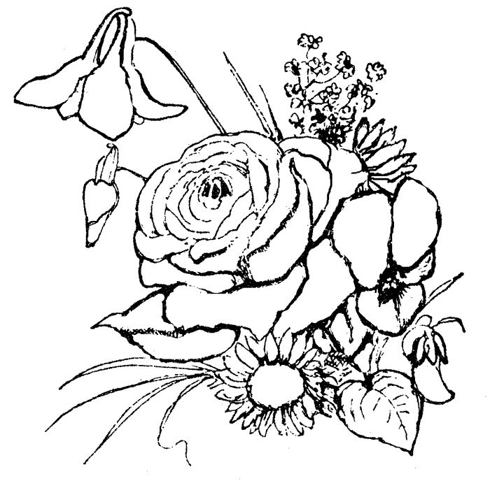 700x688 Best 25+ Flower coloring pages ideas Coloring pages