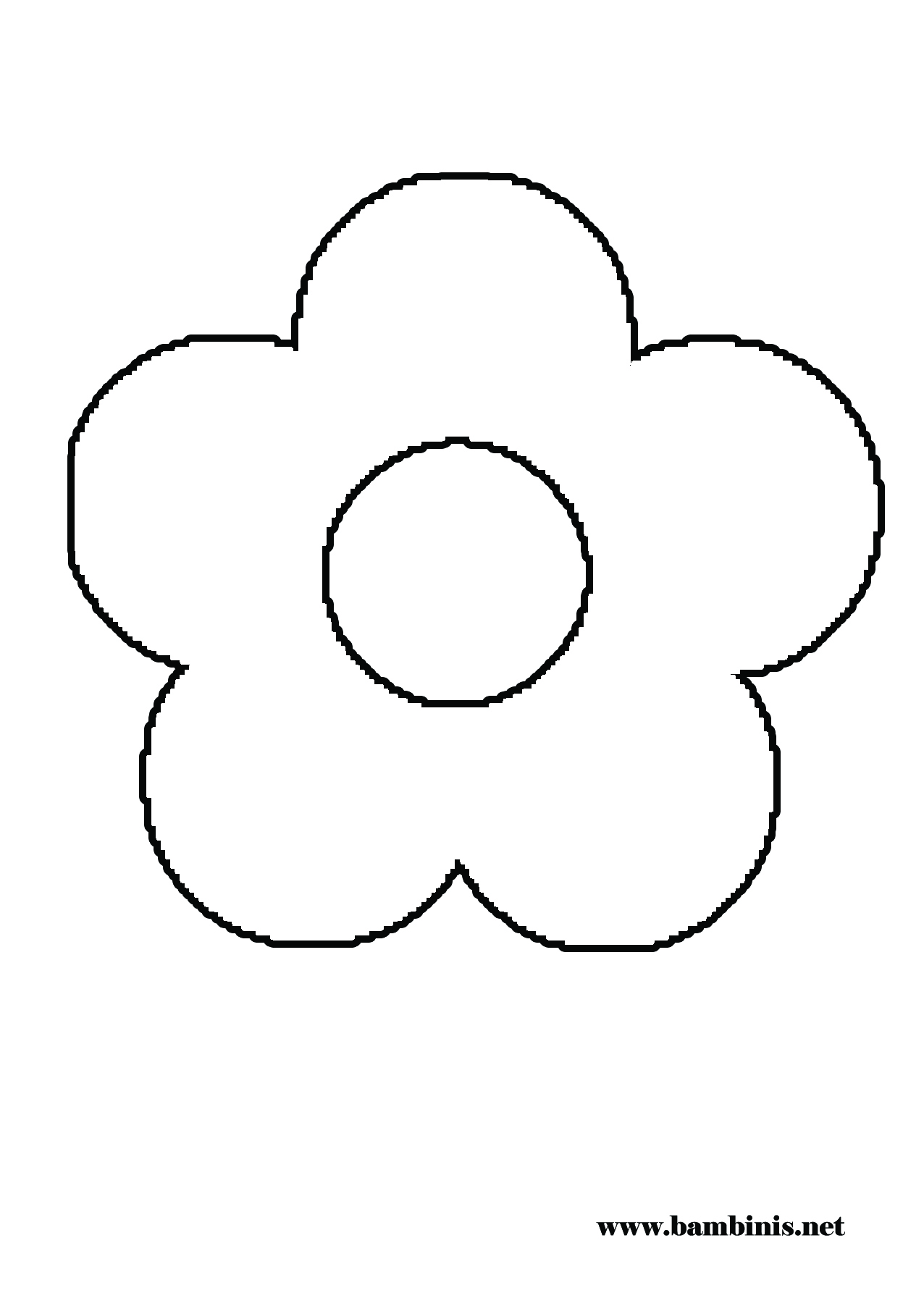 1276x1790 Simple Flower Coloring Pages