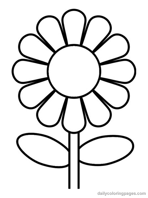 picture regarding Printable Flower Coloring Pages named Flower Coloring Web pages No cost obtain least difficult Flower Coloring