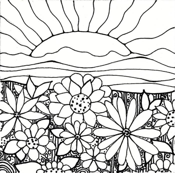 698x692 Coloring Pages Elegant Garden Coloring Page Flower Pages Garden