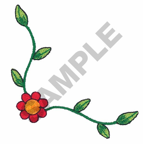 498x500 Embellishments Embroidery Design Flower Corner Border From Great