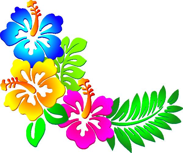 600x500 Hibiscus Corner 2 Clip Art