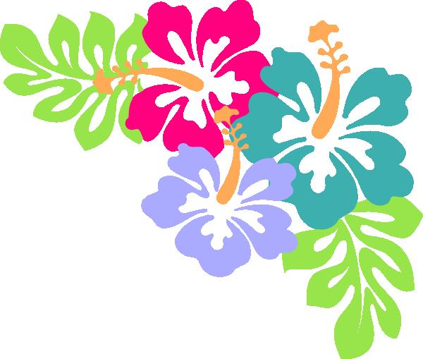600x509 Hibiscus Corner Clip Art