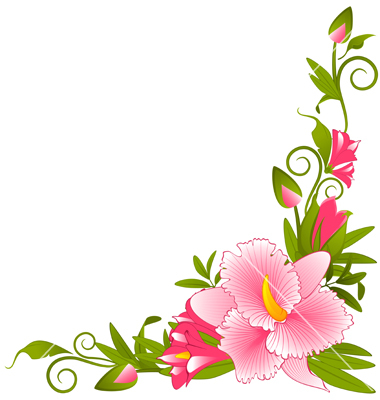 380x400 Pansy Flower Corner Border Clip Art Use these free images for