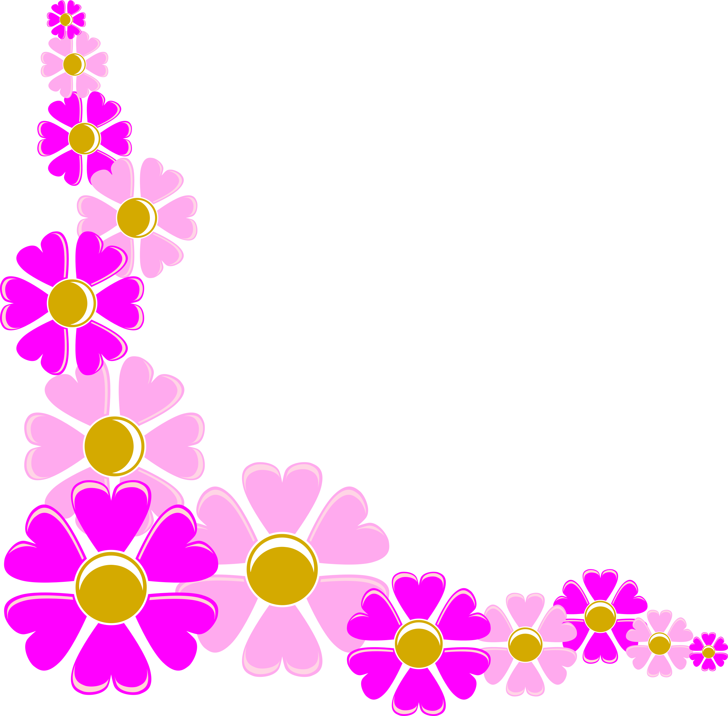 2400x2359 Purple Flower clipart corner