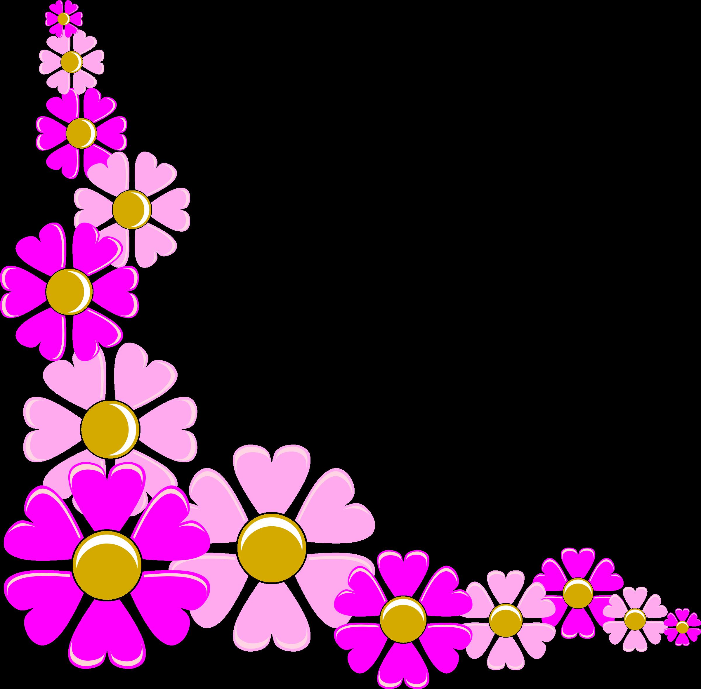 2400x2359 Purple Flower Clipart Corner