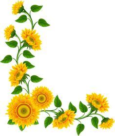 236x280 Yellow Flower Corner Border Boarders Corner, Clip