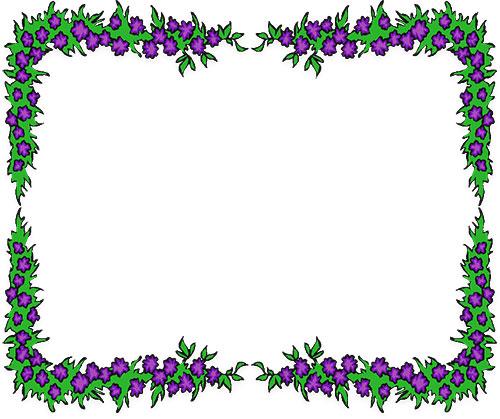 500x419 Flower border clip art flower corner borders clipart